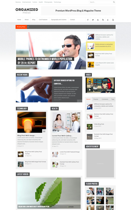 Organized Press - WordPress Blog & Magazine Theme