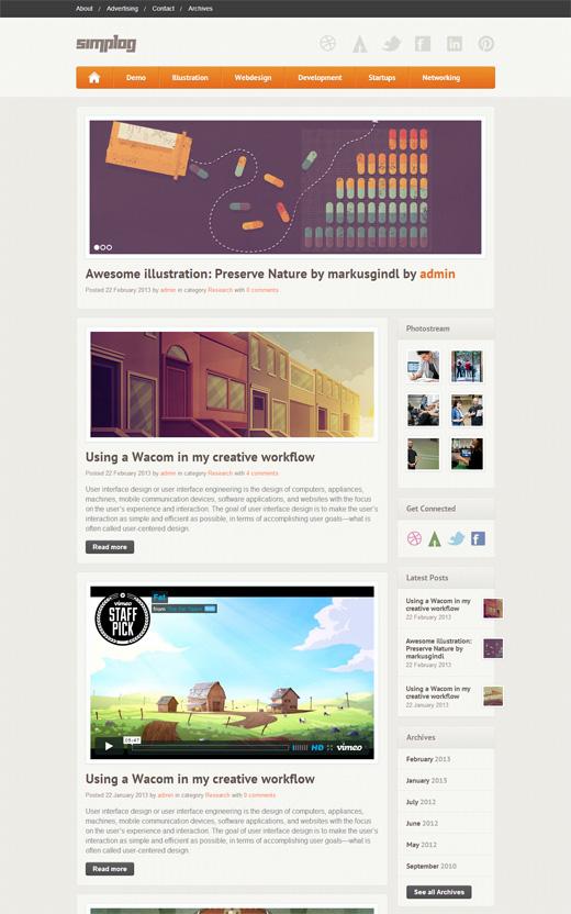 Simplog - Responsive Blog/Magazine Theme