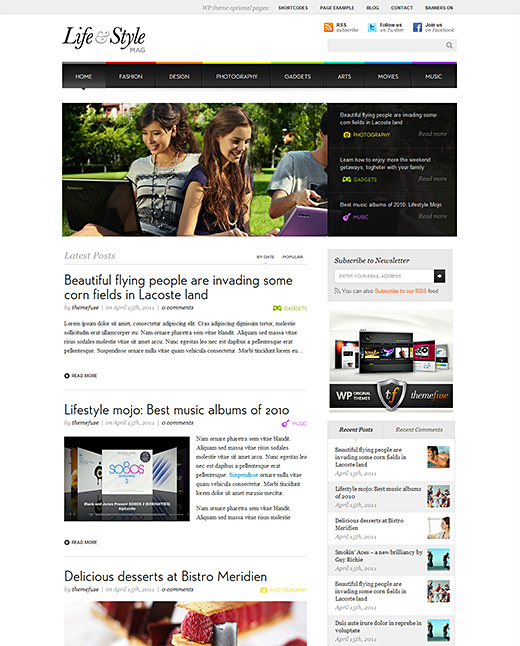 Life & Style wordpress magazine theme
