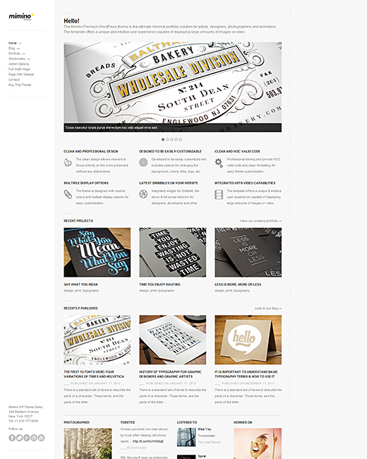 MiMino Blog WordPress Theme