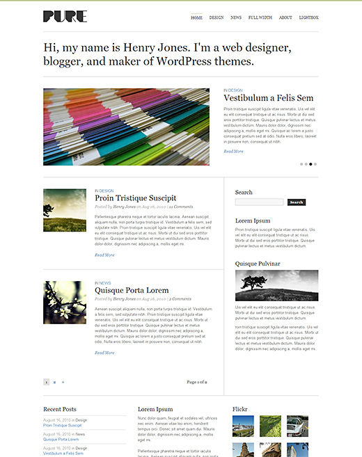 Pure premium magazine theme for your website