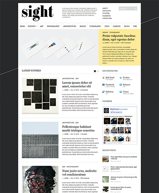 Sight wordpress magazine theme