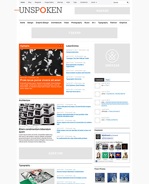 Unspoken premium wordpress theme for magazines