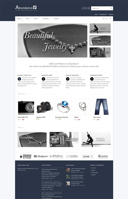 Abundance WordPress eCommerce Theme Preview