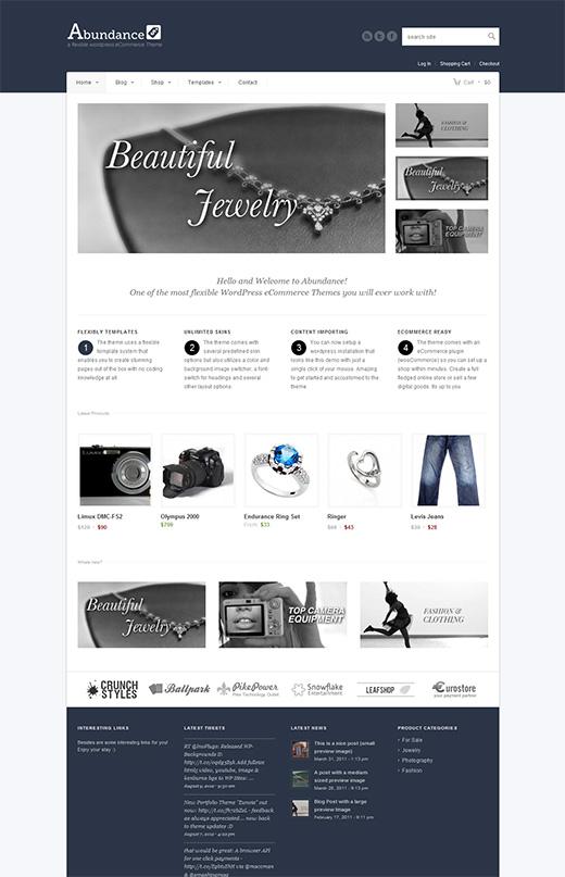 Abundance WordPress eCommerce Theme Preview