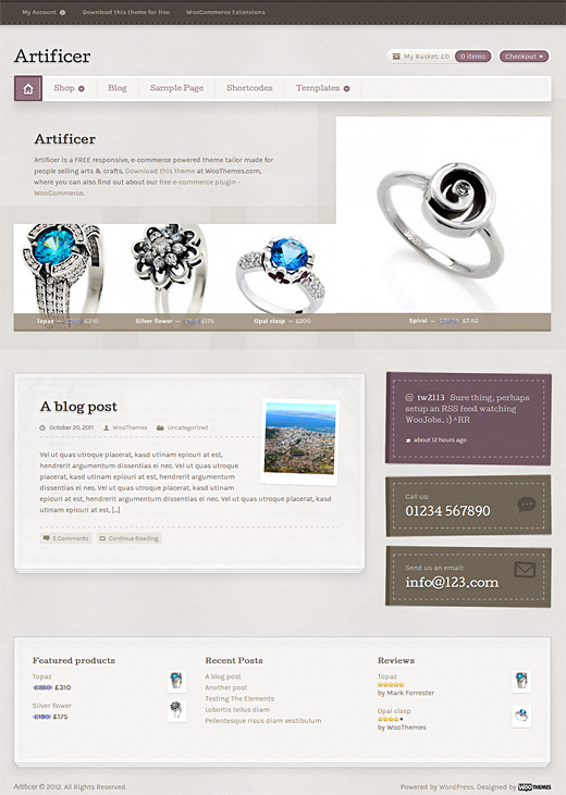 Artificer eCommerce Theme