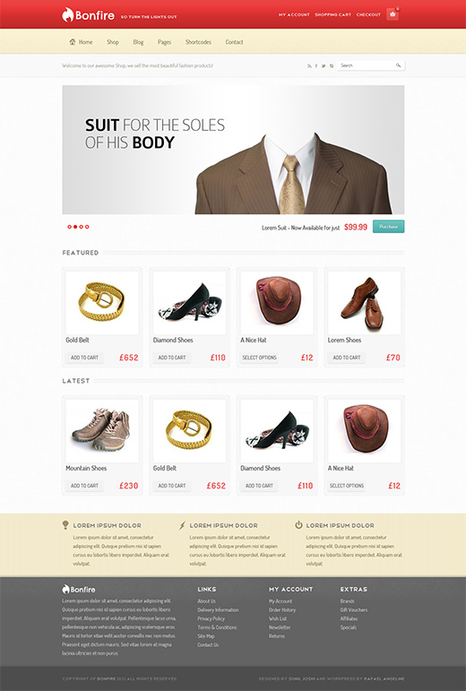 Bonfire WordPress eCommerce Themes