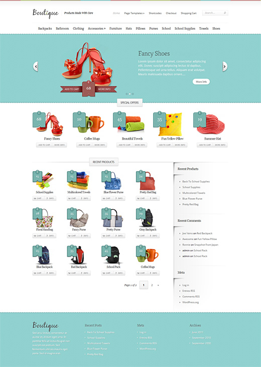 Boutique eCommerce WordPress Theme