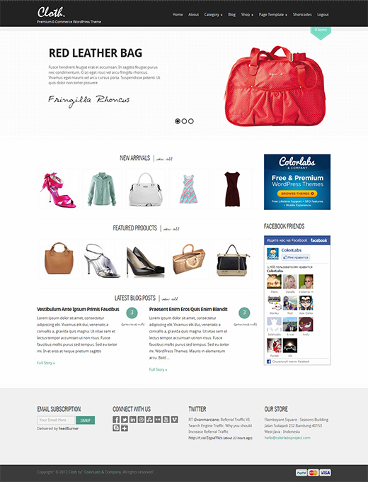 Cloth WordPress eCommerce Theme