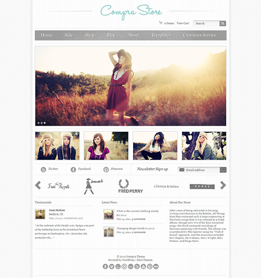 Compra Store WordPress eStore Theme