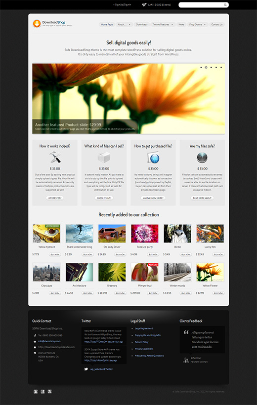 Download Shop WordPress eCommerce Theme