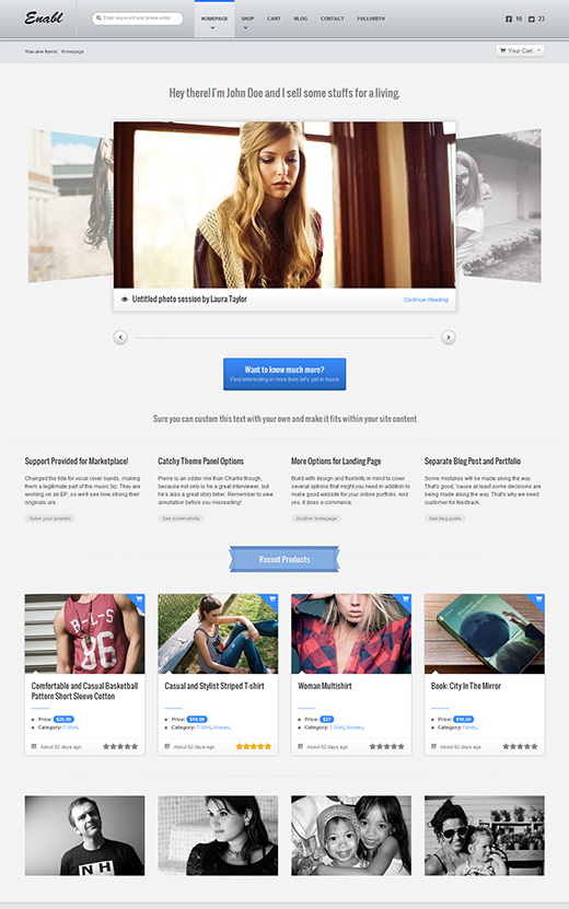 Enabl WordPress eCommerce Theme Preview