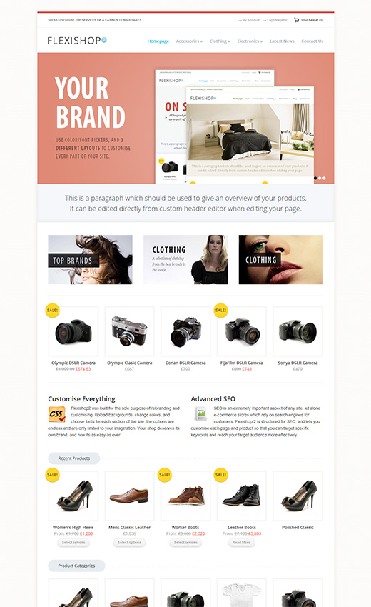 Flexi Shop WordPress eShop Theme