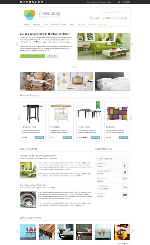 Fresh Shop WordPress eShop Theme