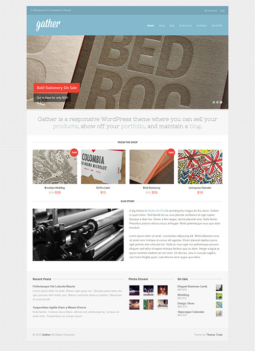 Gather Responsive E-commerce Theme