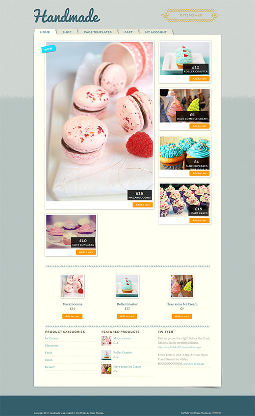 HandMade WordPress eCommerce Theme