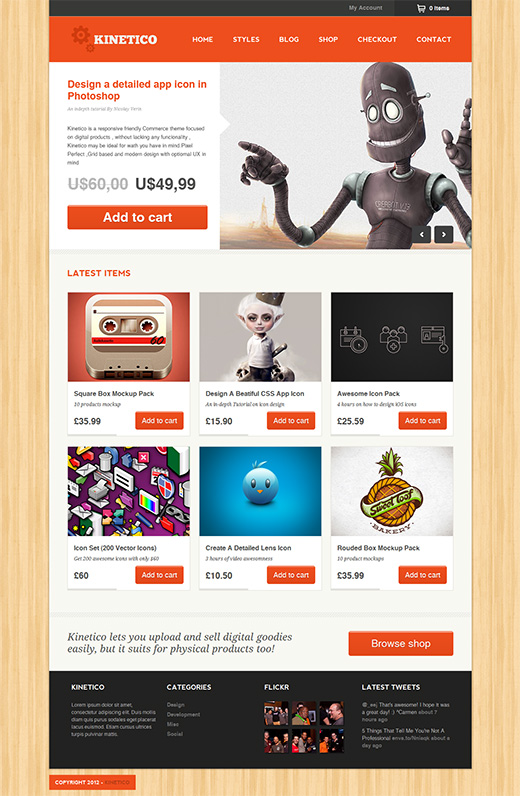 Kinetico WordPress eCommerce Theme