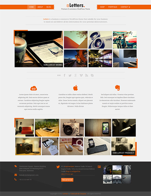 Letters WordPress eCommerce Template