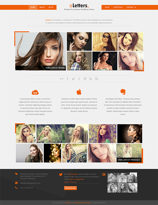 Letters-WordPress-eCommerce-Template