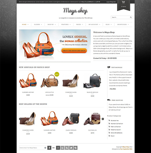 Maya Shop WordPress eShop Theme Preview