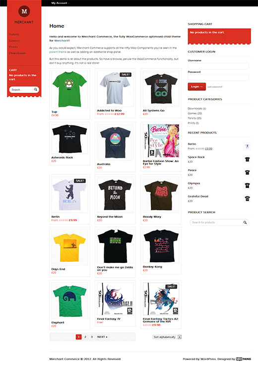 Merchant WordPress eCommerce Theme Preview