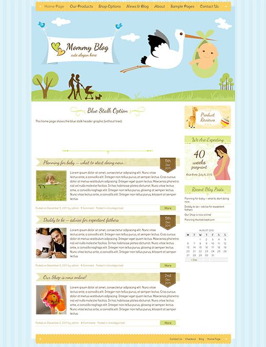 Mommy Blog WordPress eCommerce Theme