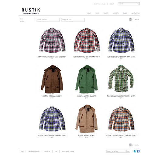 Rustik WordPress eShop Theme