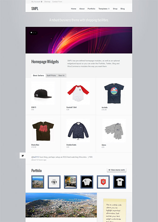 SMPL WordPress eCommerce Theme Preview