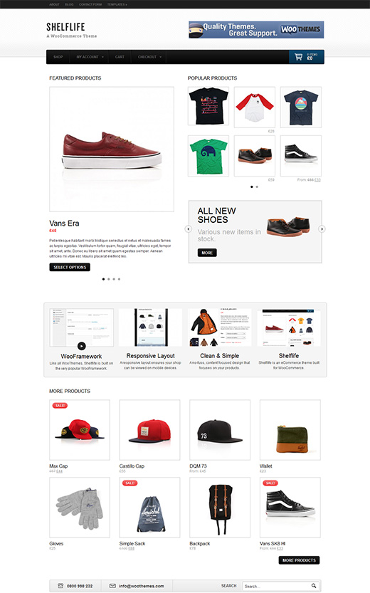 Shelflife WordPress eCommerce Theme Preview