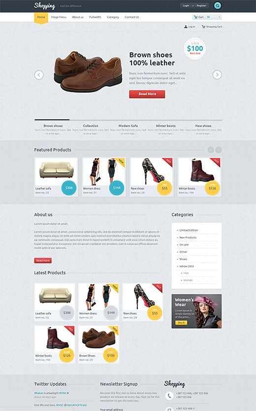 Shopping WordPress eCommerce Template