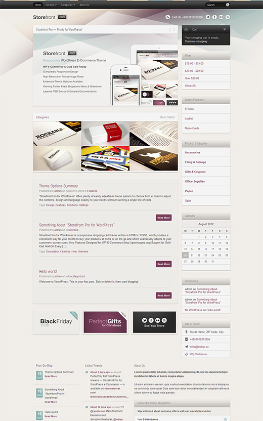 Store Fron WordPress eCommerce Theme