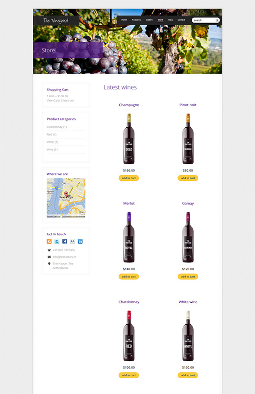 The Vineyard WordPress eCommerce Theme