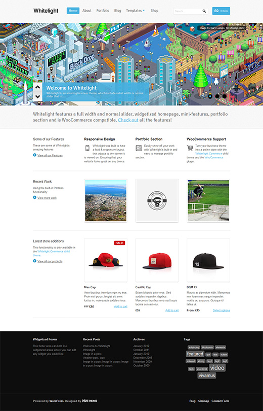 Whitelight WordPress eCommerce Theme Preview