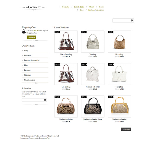 e-Commerce WordPress eCommerce Theme Preview