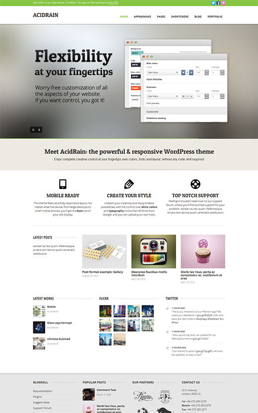 Acid Rain WordPress Business Theme