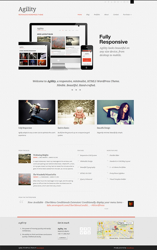Agility WordPress Business Theme