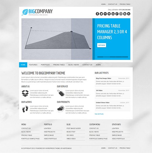 Big Company WordPress Business Theme