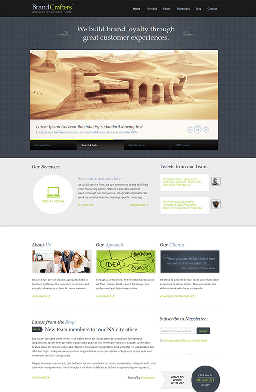Brand Creafters Business WordPress Theme