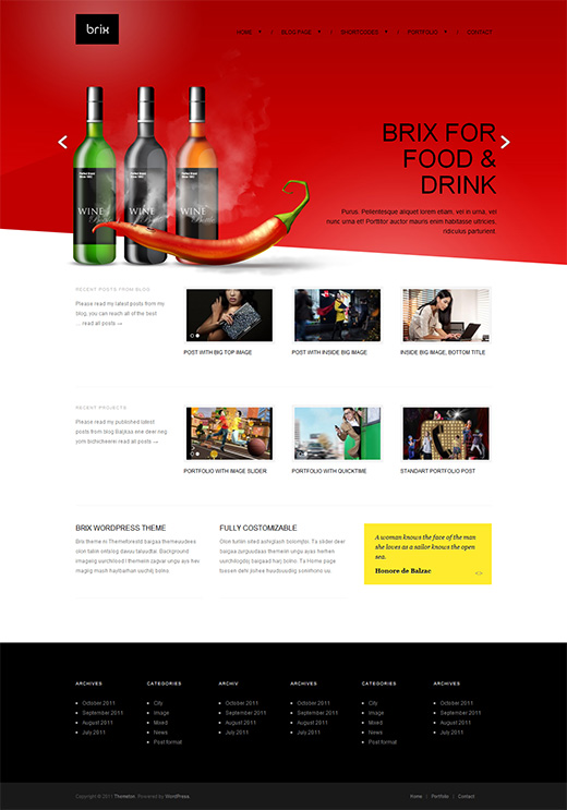 Brix WordPress Business Theme