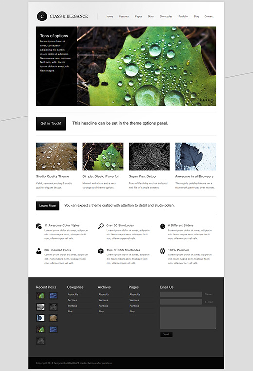 Class WordPress Business Theme