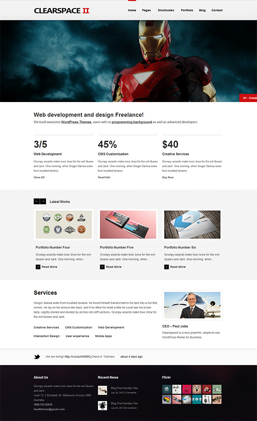 Clear Space 2 WordPress Business Theme