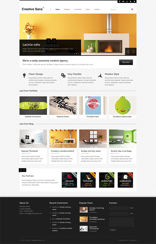 Creative Sans Business WordPress Theme