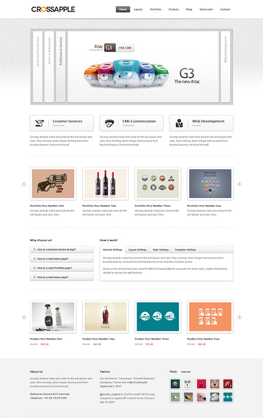 Crossapple WordPress Business Theme