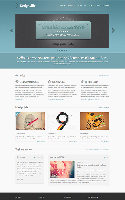 Designville WordPress Business Theme