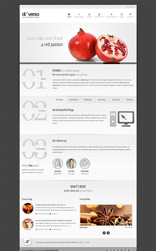 Diverso WordPress Business Theme