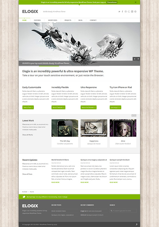 Elogix WordPress Business Theme