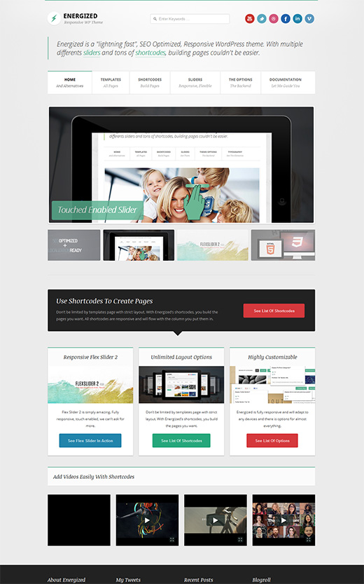 Energized WordPress Business Theme