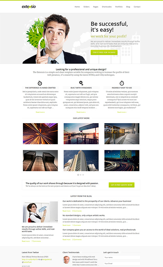 Extensio WordPress Business Theme