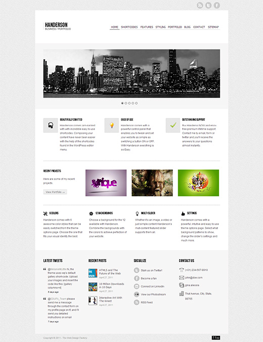 Handerson WordPress Business Theme