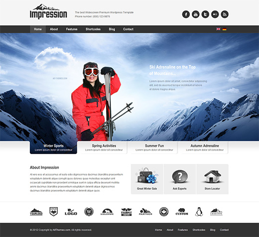 Impression WordPress Business Theme